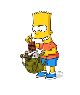 "Bartholomew Jo-Jo ""Bart"" Simpson/Nelson Muntz Nancy Cartwright The Simpsons"