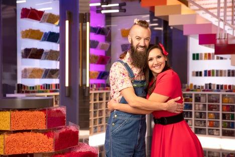 Contestants Sam & Jessica LEGO Masters
