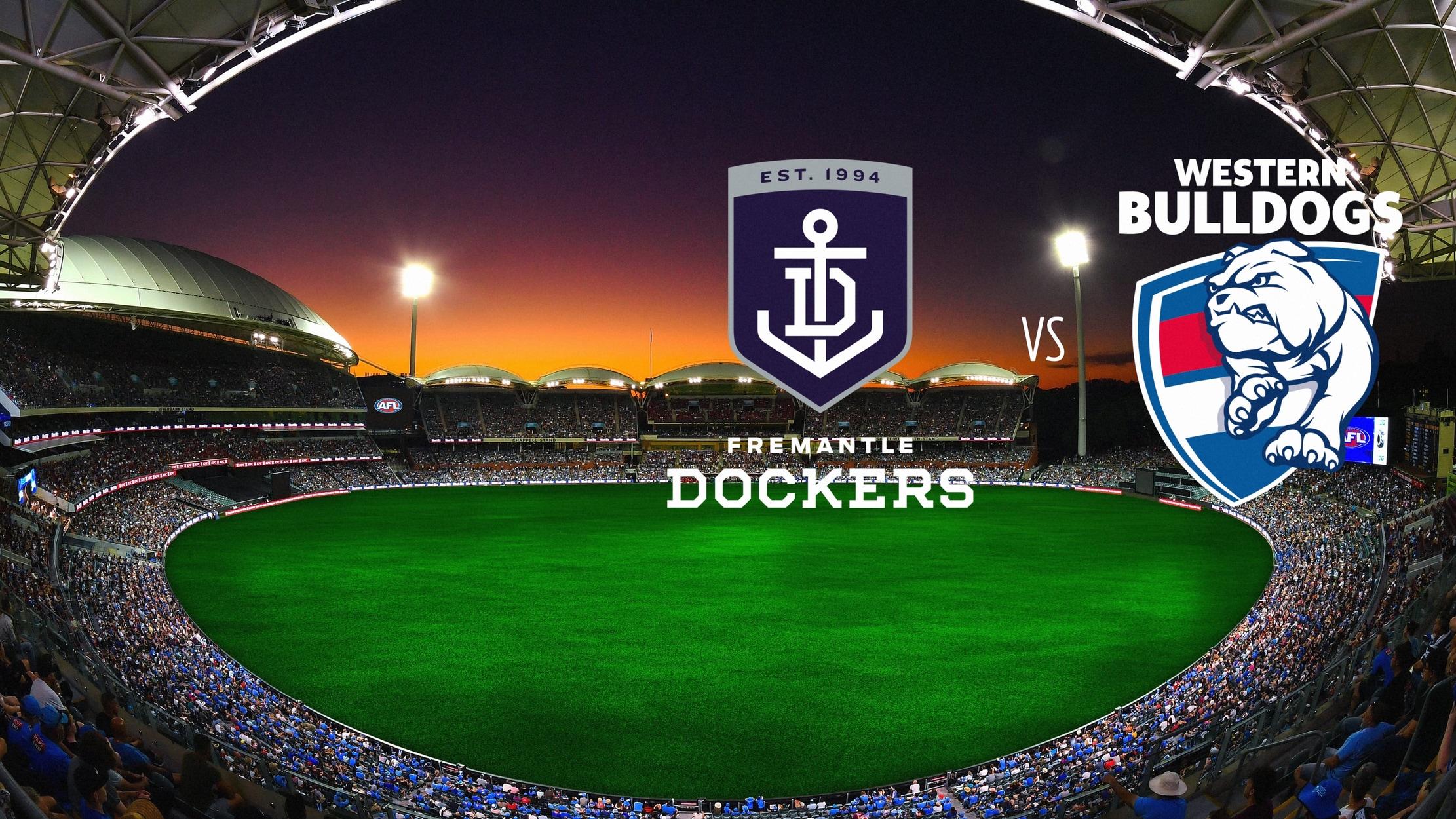 AFL Premiership Football - Fremantle Dockers vs. Western Bulldogs seriesDetail