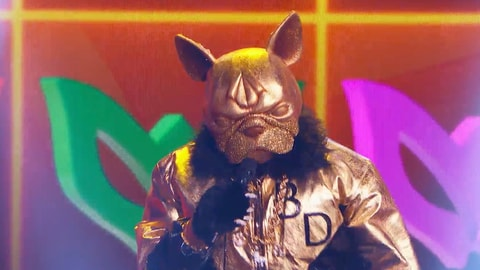 "The Masked Singer S5 Bulldog performs ""Candy Girl"" by New Edition 2021-04-06"
